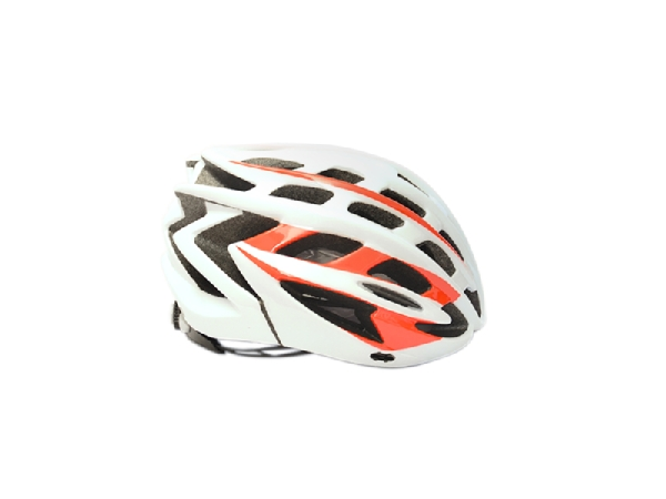 16 CASCO MERIDA HB27 SHINY WHITE/RED M